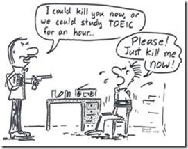 TOEIC Cartoon by Daniel Fraser Sourced from Munwha Experience